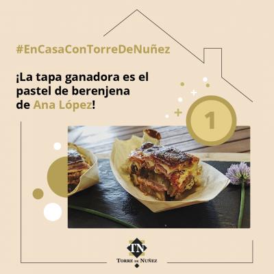 Tapa saludable Torre de Núñez